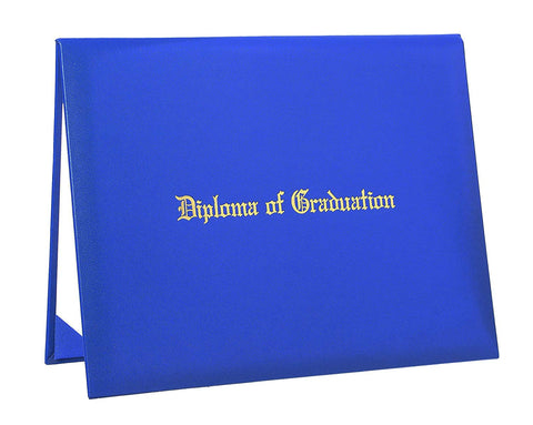 "Smooth Graduation Diploma Cover Imprinted ""Diploma of Graduation"" Certificate Cover 8 1/2"" x 11"""
