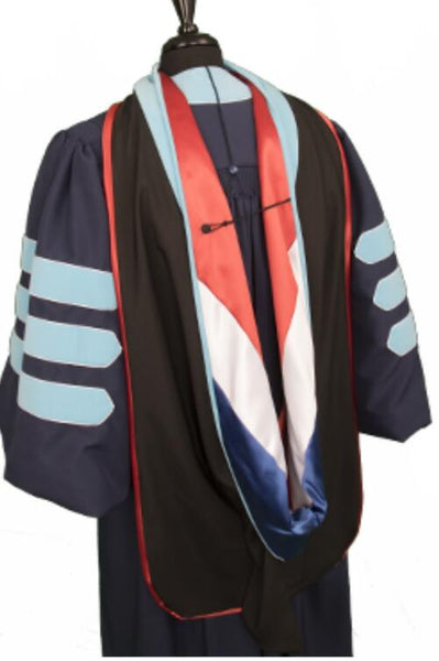 Customized Doctoral Graduation Gown Hood & Tam 8S