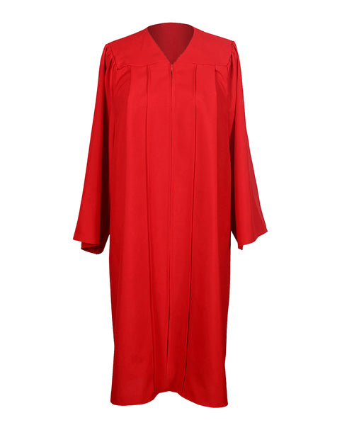 Unisex Adult Red Matte Graduation Gown Only Choir Robes,12 Colors Option