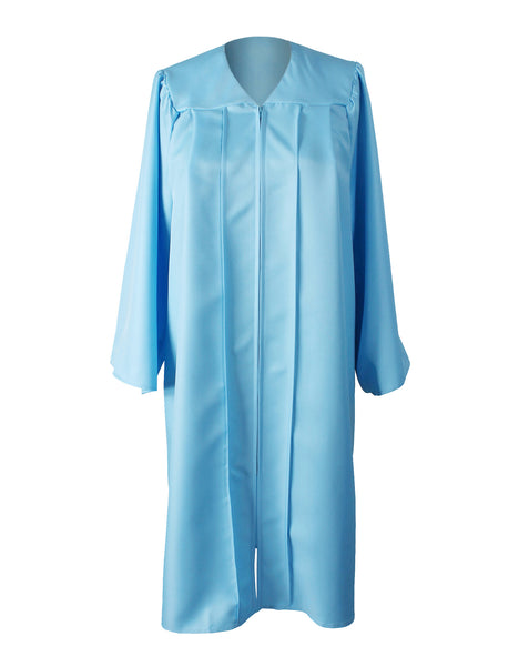 Unisex Adult Sky Blue Matte Graduation Gown Only Choir Robes,12 Colors Option