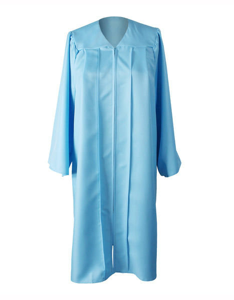 Matte Sky Blue High School Graduation Cap & Gown with 2019 Tassel for Adult