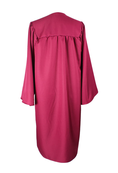 Unisex Adult Maroon Matte Graduation Gown Only Choir Robes,12 Colors Option