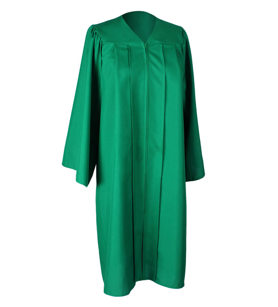 Unisex Adult Emerald Green Matte Graduation Gown Only Choir Robes,12 Colors Option
