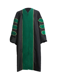 MyGradDay Deluxe Unisex Graduation Doctoral Gown and Hood without gold piping