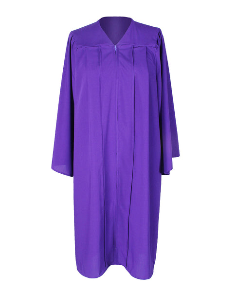 Unisex Adult Purple Matte Graduation Gown Only Choir Robes,12 Colors Option