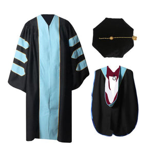 Sky  Blue Doctoral Gown,Hood and Tam Customization