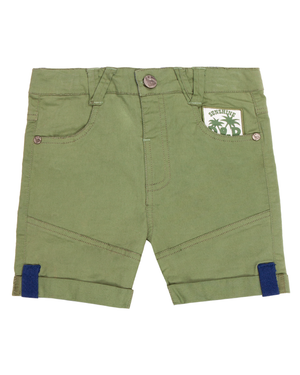 Bermuda Sam Bebé Verde militar Black and Blue