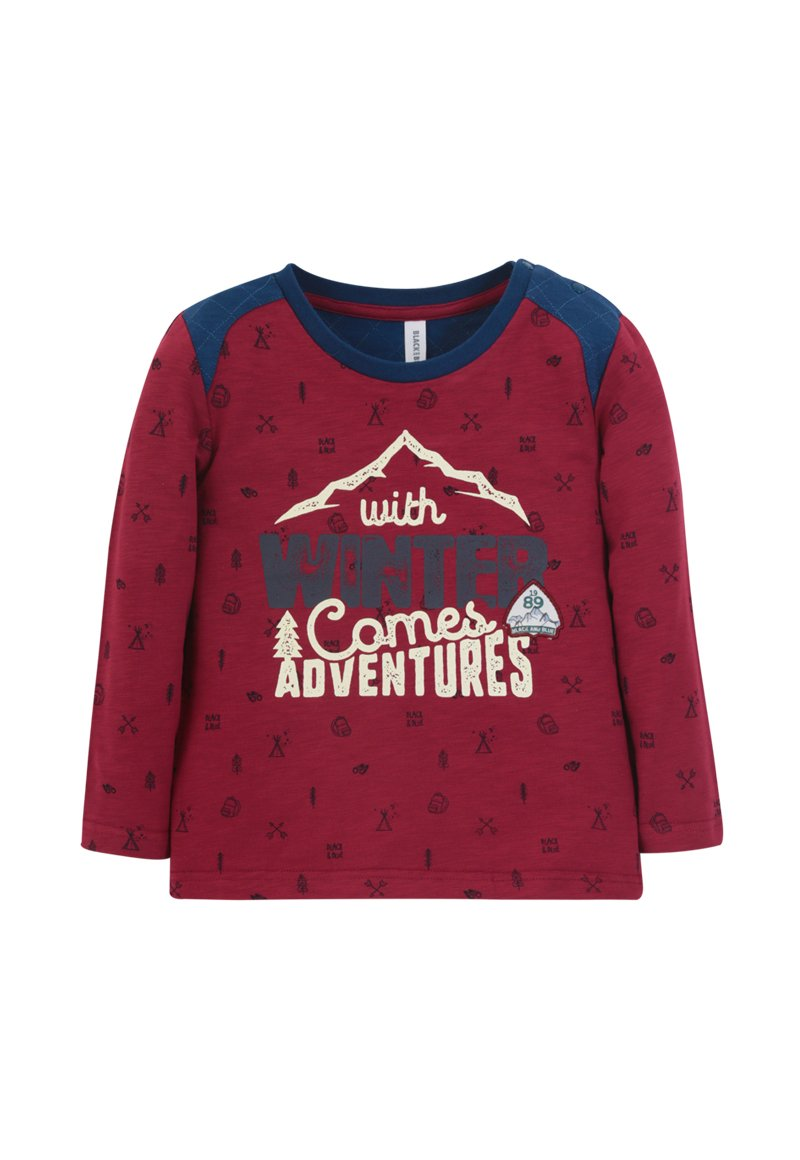 Polera ml Winter adventures Bebé Burdeo Black and Blue