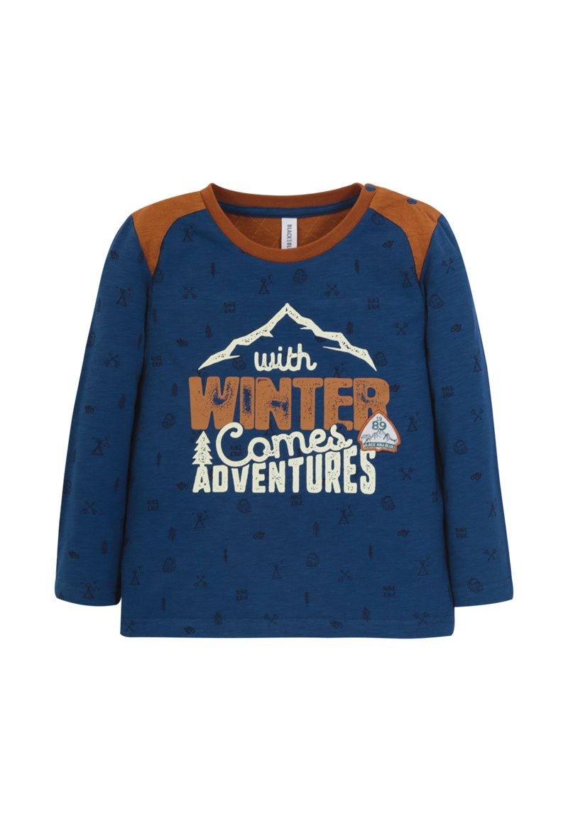 Polera ml Winter adventures Bebé Azul piedra Black and Blue