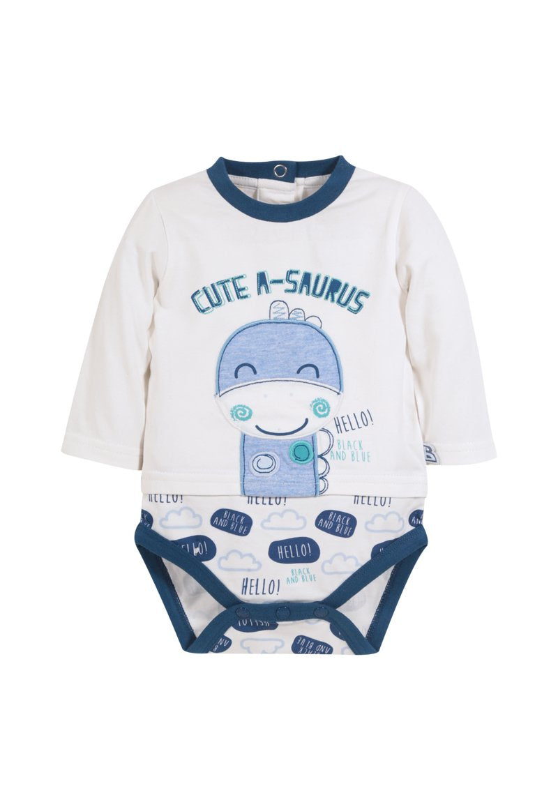Body ml Cute A-saurus Recién Nacido Crudo Black and Blue