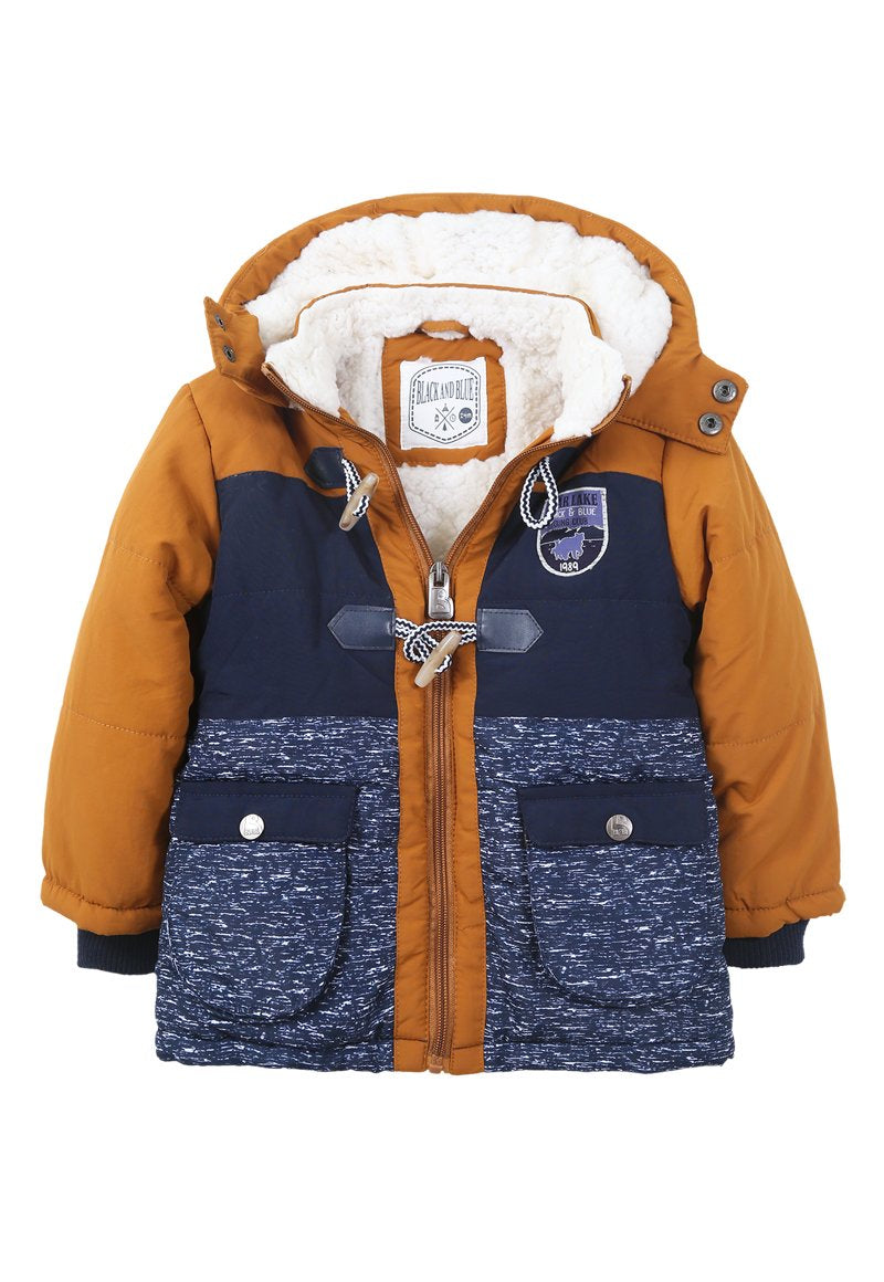 Parka Elvis Bebé Camel Black and Blue