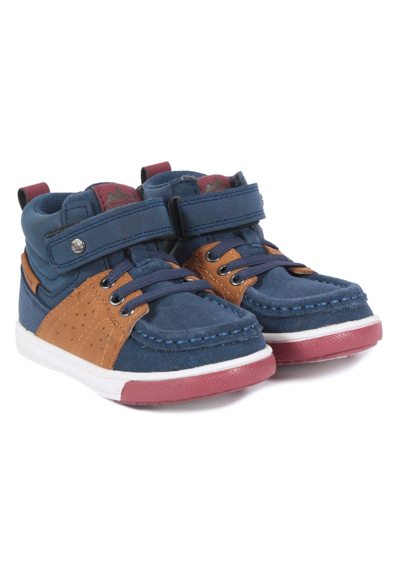 Botin Sporty Caminante Azul marino Black and Blue