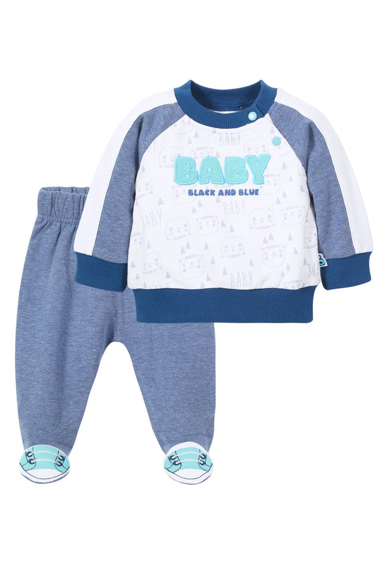 Buzo Baby Recién Nacido Blanco Black and Blue