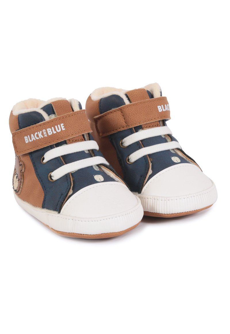 Zapatilla Baby Bear Recién Nacido Base/chocolate Black and Blue
