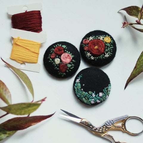 Stitched Pins: Embroidery: Beyond Beginner