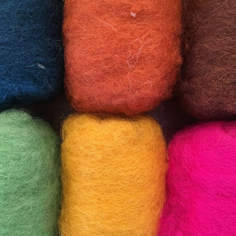 25g Bheda Wool Batting - various colours