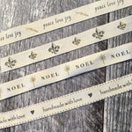 Ivory Cotton Ribbon - various
