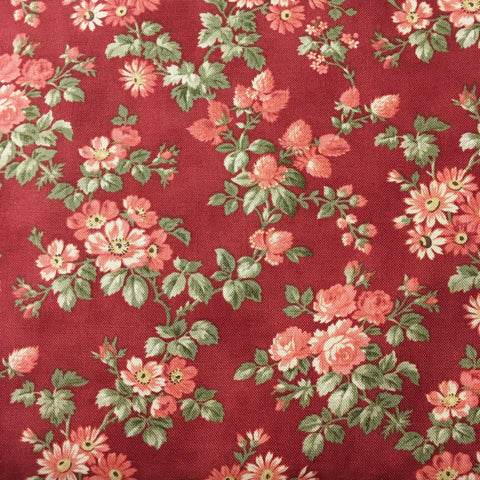 Memoirs Rust Floral Cotton