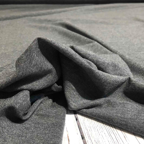 Jersey Solids - Tencel / Organic Cotton - Charcoal Mix