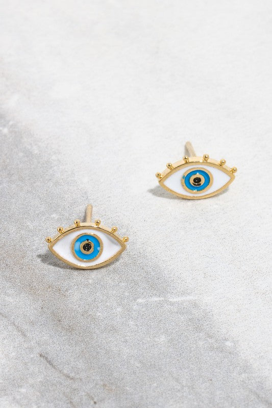 Vibrant Eye Stud Earrings