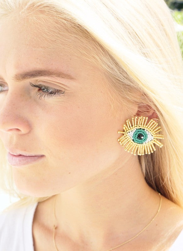 EVIL EYE BURST EARRINGS