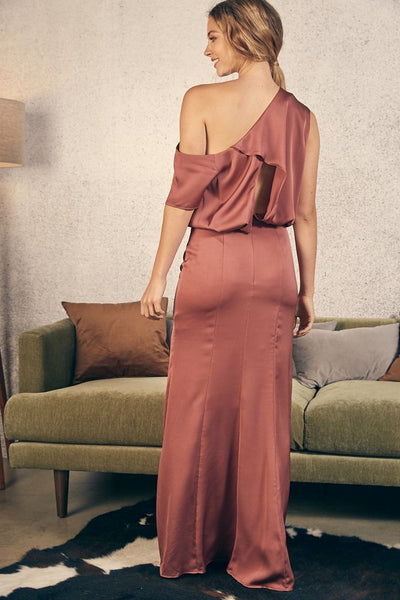 One Shoulder Long Dress