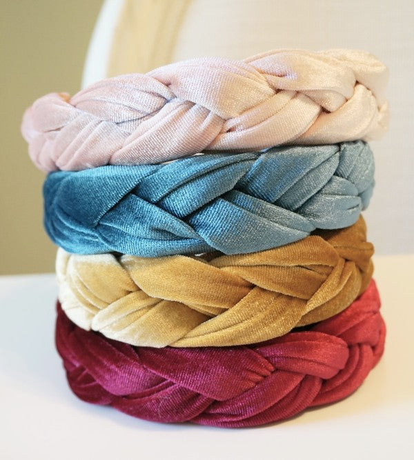 VELVET BRAIDED HEADBAND