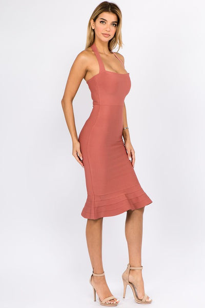 Soft Bandage Bodycon Dress