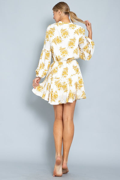 Long Sleeve Bottom Ruffled Midi Dress