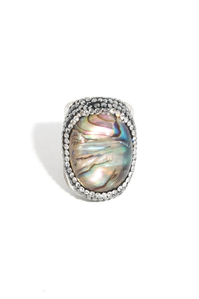 Iridescent Stone Ring
