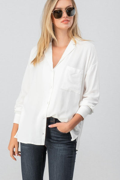 The Perfect Casual Button Down Blouse