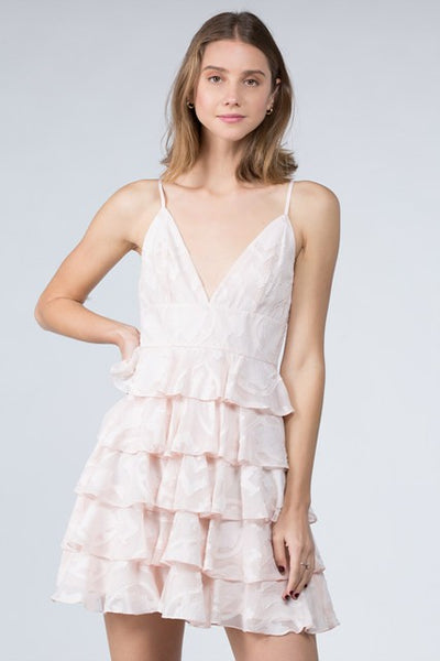 Multi Ruffle Mini Dress
