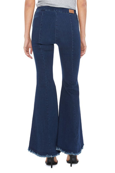 Cropped Waxy Super Flare Jeans