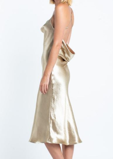 Slinky Gold Slip Dress
