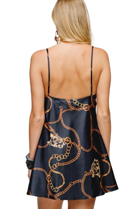 Celine Black Chains Dress