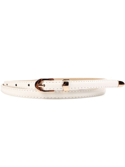 Gold Tipped Sleek Patent Skinny Belts