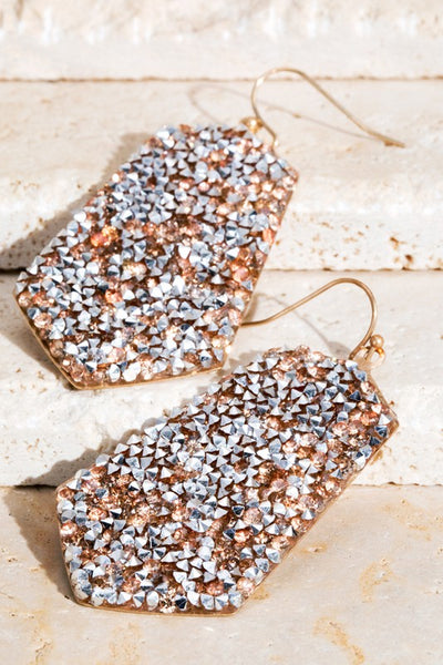Glittery Rhinestone Earrings