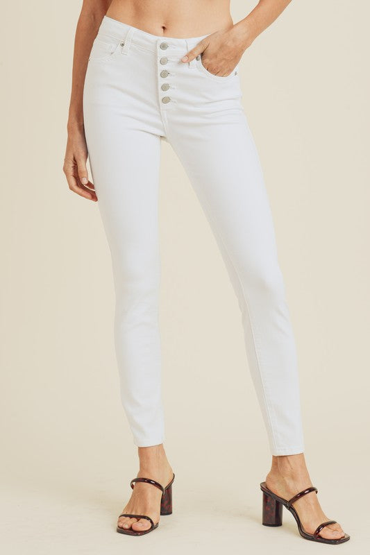 Button Down Skinny Jeans