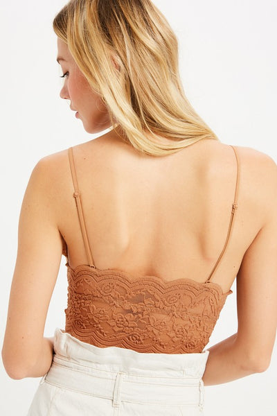 SHEER LACE LONGLINE BRAMI
