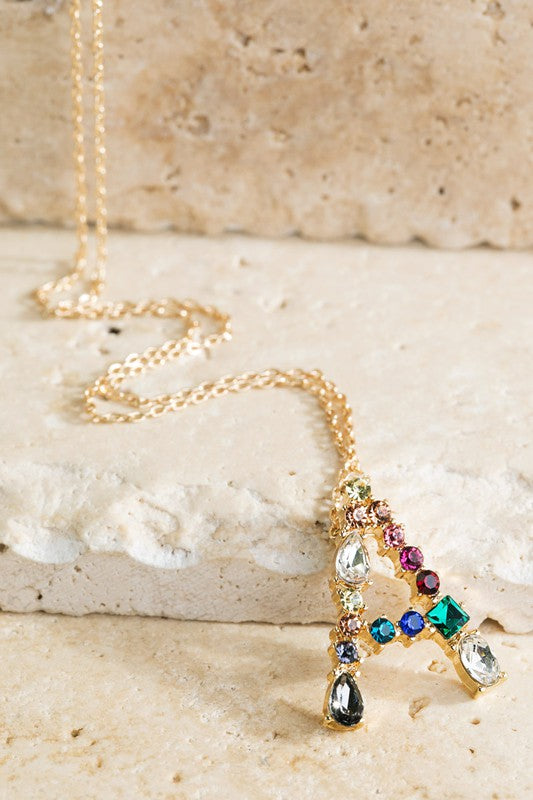 Multicolored Initial Necklaces