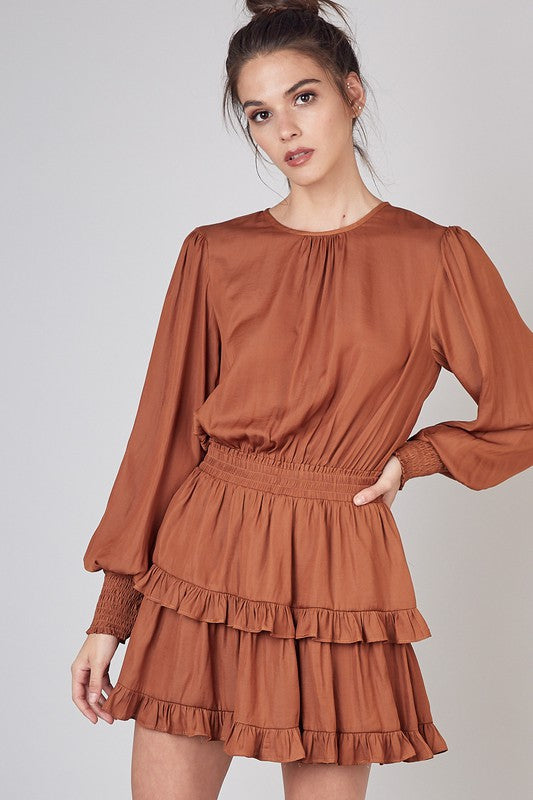 RUFFLE DETAIL LAYER DRESS