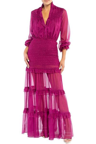 Pinktuck Scrunch Maxi Dress