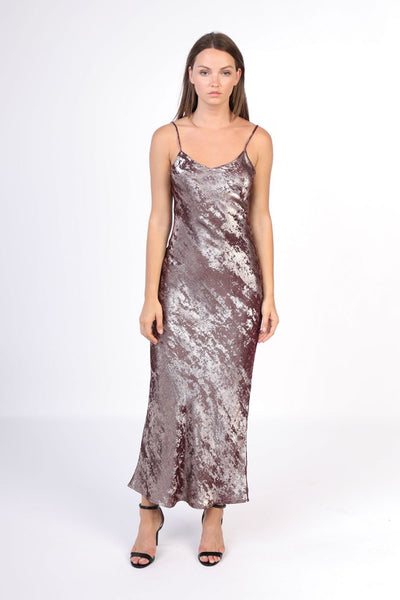 Velvet Metallic Foil Dress