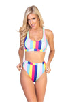 Rainbow Striped Bottom