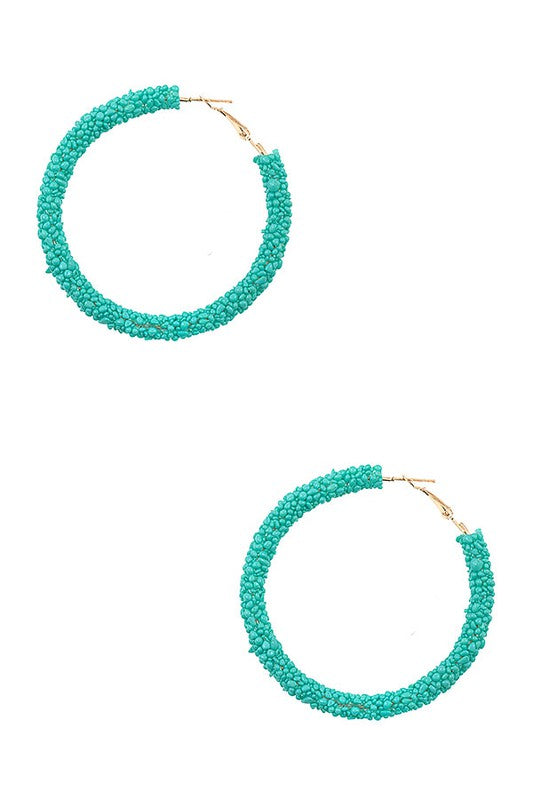 Cluster Bead Hoop Earrings