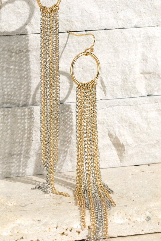 Fine Chain Tassel Earrings