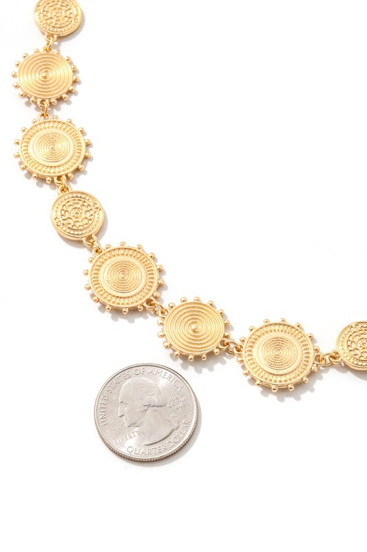 Disc Linked Chain Necklace