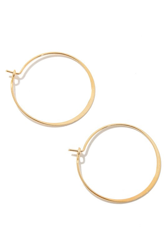 Dainty Metallic Hoop Earrings