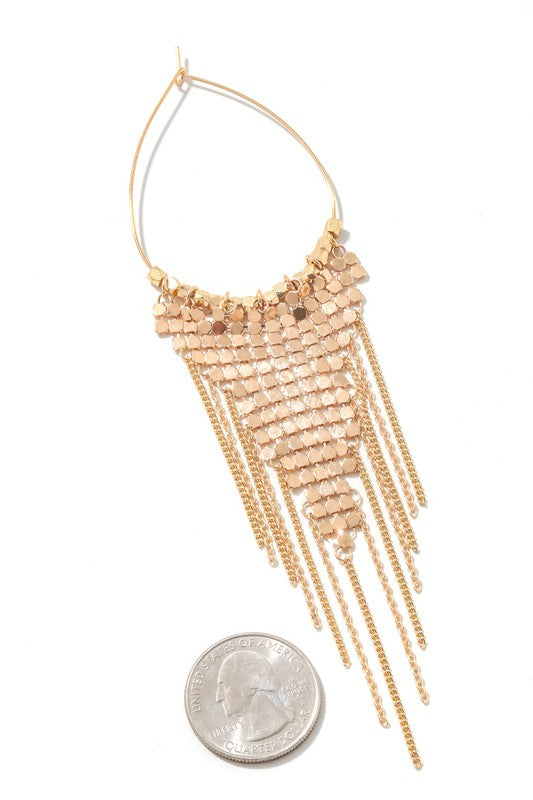Chain Fringe Metallic Earrings
