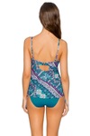 iconic shirred tankini d-dd cups